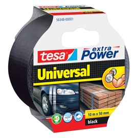 Gewebeband extra Power Universal 50mm x 10m schwarz Tesa 56348-00001-04 (RLL=10 METER) Produktbild