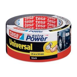 Gewebeband extra Power Universal 50mm x 25m schwarz Tesa 56388-00001-07 (RLL=25 METER) Produktbild