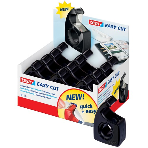 Handabroller Easy Cut leer füllbar bis 19mm x 10m schwarz Tesa 57943-00000-00 Produktbild Additional View 1 L
