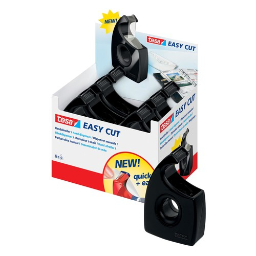 Handabroller Easy Cut leer füllbar bis 19mm x 33m schwarz Tesa 57944-00000-00 Produktbild Additional View 1 L