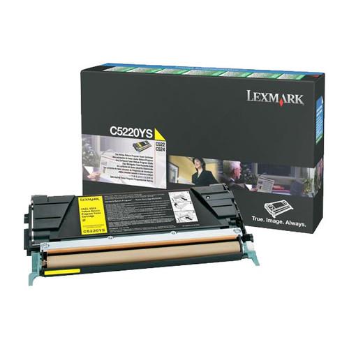Toner für Optra C520N/C522N/C524 3000Seiten yellow Lexmark C5220YS Produktbild Front View L