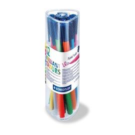 Fasermaler Triplus Color 323 Etui 1,0mm Dreikant sortiert Staedtler 323PR12 (PACK=12 STÜCK) Produktbild