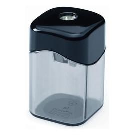 Spitzer einfach mit Behälter eckig hoch schwarz/rauch M+R 0923-0050 Produktbild