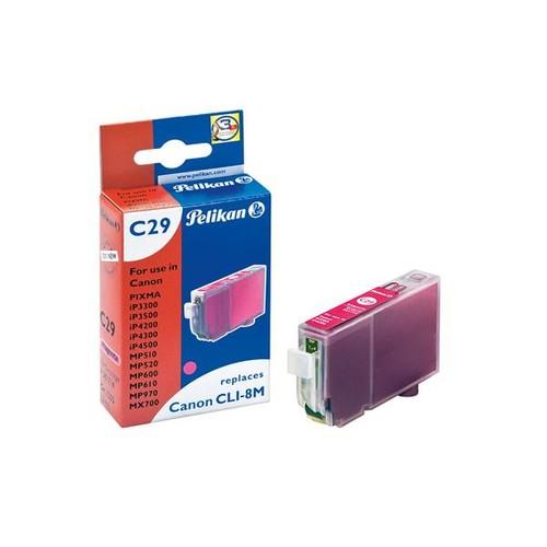 Tintenpatrone Gr. 1505 (CLI-8M) für Pixma IP4200/IP5200/MP500 13ml magenta Pelikan 361714 Produktbild Front View L