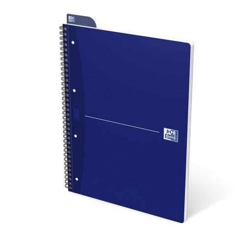 Collegeblock Oxford Blue A4+ kariert 4-fach Lochung 70Blatt 90g Optik Paper weiß 100050225 Produktbild