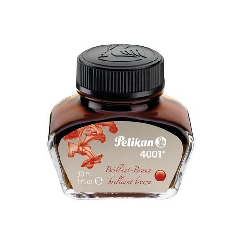 Tinte im Glas 30ml 4001 brilliant-braun Pelikan 311902 (GL=30 MILLILITER) Produktbild Front View L