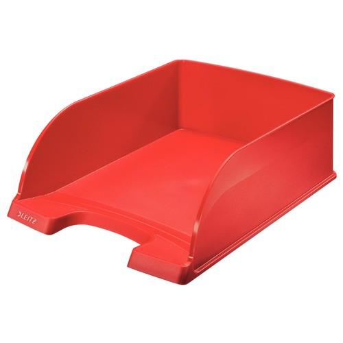 Briefkorb Plus Jumbo für A4 242x95x340mm rot Kunststoff Leitz 5233-00-25 Produktbild Front View L