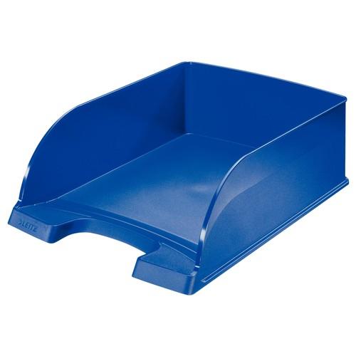Briefkorb Plus Jumbo bis A4 242x95x340mm blau Kunststoff Leitz 5233-00-35 Produktbild Front View L