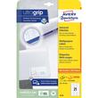 Etiketten Inkjet+Laser+Kopier 64x36mm auf A4 Bögen weiß Zweckform 6170 (PACK=630 STÜCK) Produktbild Additional View 1 S