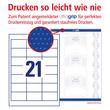 Etiketten Inkjet+Laser+Kopier 64x36mm auf A4 Bögen weiß Zweckform 6170 (PACK=630 STÜCK) Produktbild Additional View 3 S
