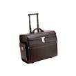 Pilotenkoffer mit Trolleysystem MONDO 48,5x37X24cm schwarz Lederimitat Alassio 45033 Produktbild