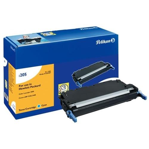 Toner Gr. 1205 (Q7581A) für Color LaserJet 3800/CP3505 6000Seiten cyan Pelikan 629487 Produktbild Front View L