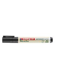 Permanentmarker EcoLine 21 1,5-3mm Rundspitze schwarz Edding 4-21001 Produktbild