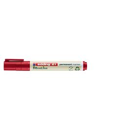 Permanentmarker EcoLine 21 1,5-3mm Rundspitze rot Edding 4-21002 Produktbild