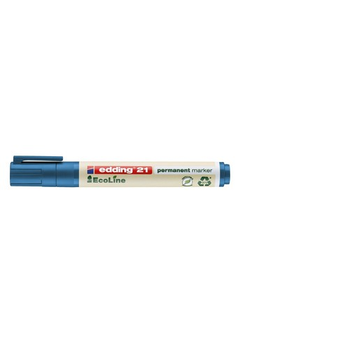 Permanentmarker EcoLine 21 1,5-3mm Rundspitze blau Edding 4-21003 Produktbild
