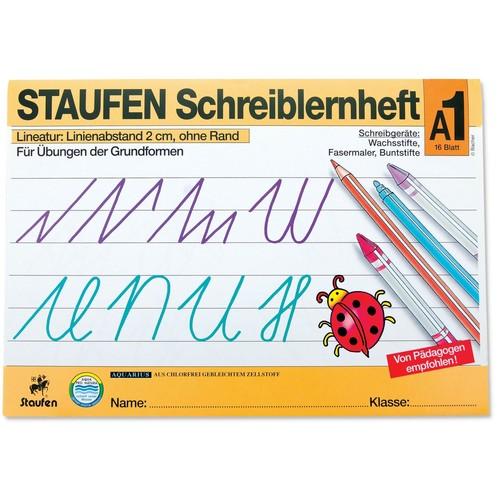 Schreiblernheft A1 A4 quer Linienabstand 2cm 16Blatt Staufen 12605 Produktbild Front View L