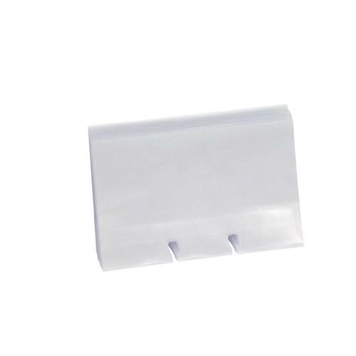Visitenkartenhüllen Rolodex Doppelseitig 67x102mm Transparent Folie Sanford S0793540 Pack 40 Stück