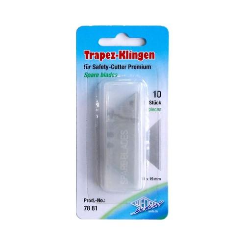 Ersatzklinge Trapez für Safety Cutter 61x19mm Wedo 7881 (DS=10 STÜCK) Produktbild Additional View 1 L