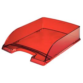 Briefkorb Plus für A4 242x63x340mm rot transparent kunststoff Leitz 5226-00-28 Produktbild