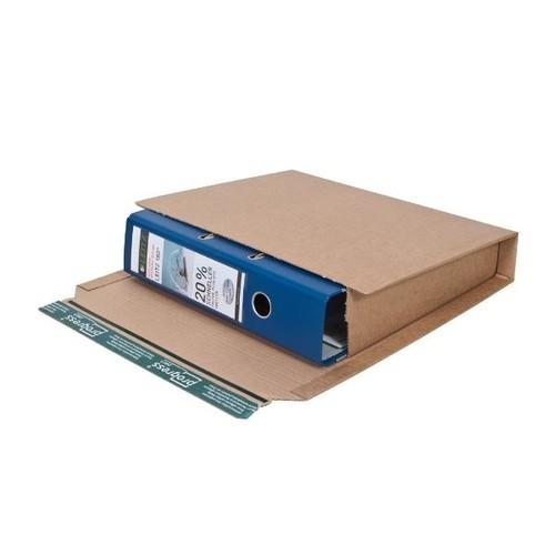 Wellpappe Versandverpackung für Ordner DIN A4 320x290x80mm braun Produktbild Additional View 1 L