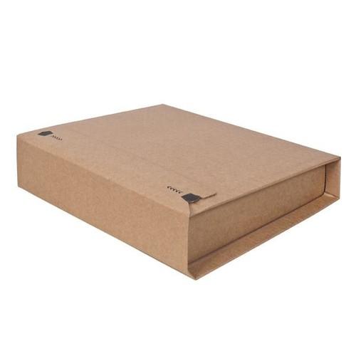 Wellpappe Versandverpackung für Ordner DIN A4 320x290x80mm braun Produktbild Additional View 2 L