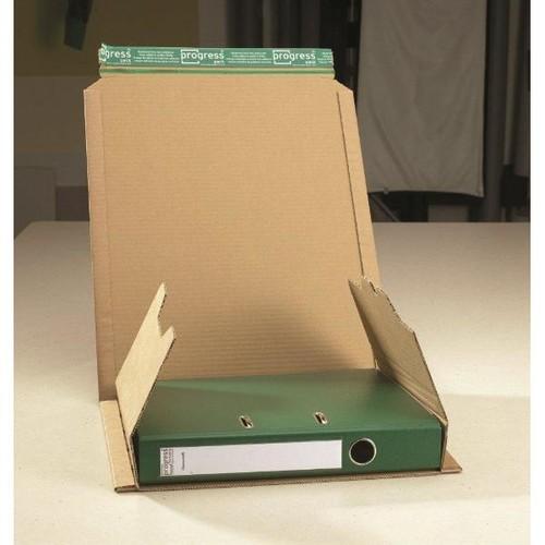 Wellpappe Versandverpackung für Ordner DIN A4 320x290x80mm braun Produktbild Additional View 3 L