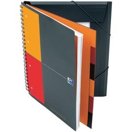 Organizerbook Oxford International A4+ kariert 4-fach Lochung Doppelspirale 90Blatt 80g Optik Paper weiß 100102777 Produktbild