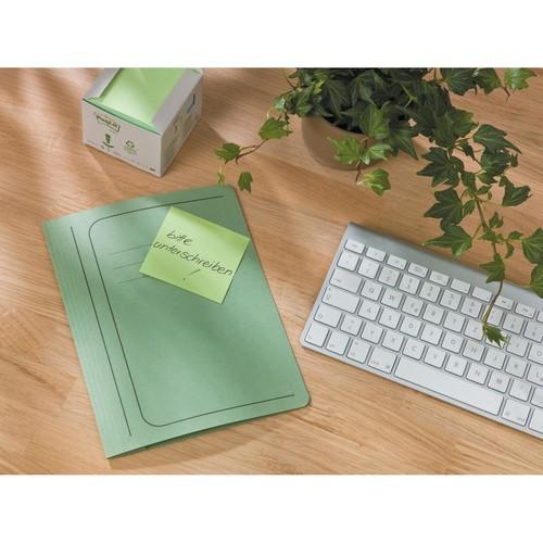 Haftnotizen Post-it Recycling Notes Tower 76x76mm gelb Papier 3M 654-1T (ST=16x 100 BLATT) Produktbild Additional View 5 L
