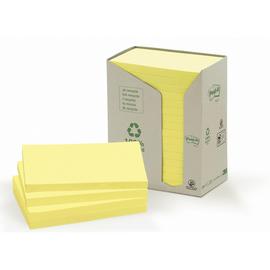 Haftnotizen Post-it Recycling Notes Tower 127x76mm gelb Papier 3M 655-1T (ST=16x 100 BLATT) Produktbild