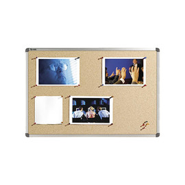 Korktafel Elipse mit Kunststoffrahmen 180x90cm Nobo 1900922 Produktbild