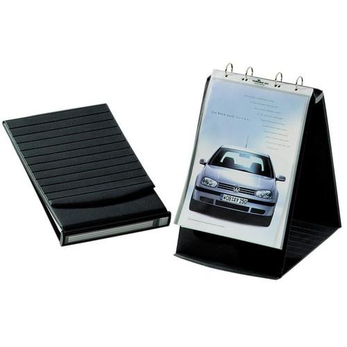 Tisch-Flipchart DURASTAR A4 quer mit 10 Hüllen basaltgrau kunststoff Durable 8567-39 Produktbild