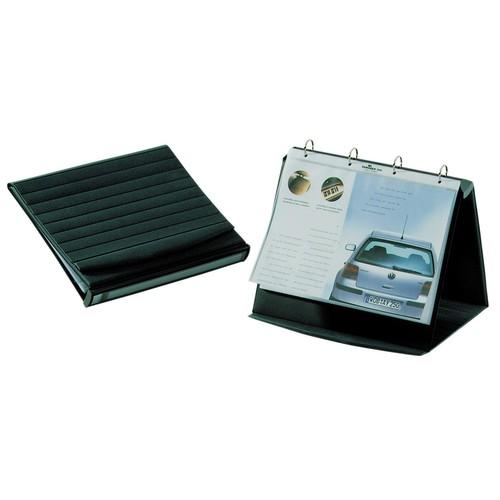 Tisch-Flipchart DURASTAR A4 quer mit 10 Hüllen basaltgrau kunststoff Durable 8567-39 Produktbild Additional View 1 L