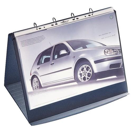 Tisch-Flipchart DURASTAR A4 quer mit 10 Hüllen basaltgrau kunststoff Durable 8567-39 Produktbild Additional View 2 L