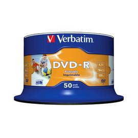 DVD-R 16fach Spindel bedruckbar 4,7GB Verbatim 43533 (ST=50 STÜCK) Produktbild