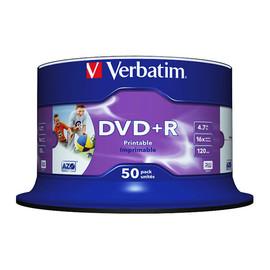DVD+R 16fach Spindel bedruckbar 4,7GB/120Min. Verbatim 43512 (ST=50 STÜCK) Produktbild