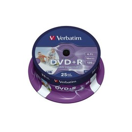 DVD+R 16fach Spindel bedruckbar 4,7GB/120Min. Verbatim 43539 (ST=25 STÜCK) Produktbild