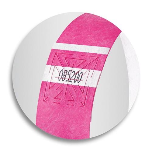 Eventbänder mit Etiketten 26cm neonpink besonders weiches Material Sigel EB210 (PACK=120 STÜCK) Produktbild Additional View 6 L