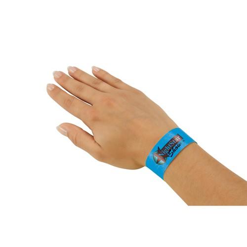 Eventbänder mit Etiketten 26cm neonblau besonders weiches Material Sigel EB211 (PACK=120 STÜCK) Produktbild Additional View 3 L