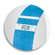 Eventbänder mit Etiketten 26cm neonblau besonders weiches Material Sigel EB211 (PACK=120 STÜCK) Produktbild Additional View 6 S