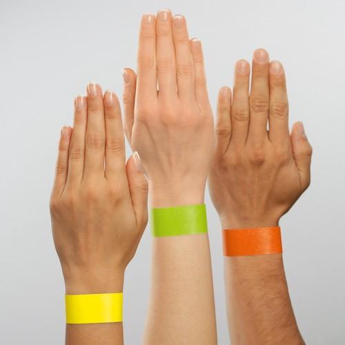 Eventbänder mit Etiketten 26cm neongelb besonders weiches Material Sigel EB213 (PACK=120 STÜCK) Produktbild Additional View 5 L
