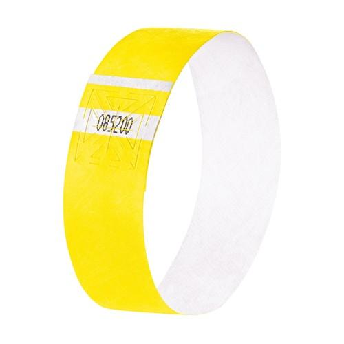 Eventbänder mit Etiketten 26cm neongelb besonders weiches Material Sigel EB213 (PACK=120 STÜCK) Produktbild Additional View 1 L