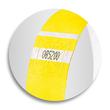 Eventbänder mit Etiketten 26cm neongelb besonders weiches Material Sigel EB213 (PACK=120 STÜCK) Produktbild Additional View 6 S