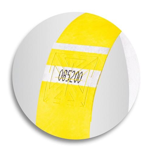 Eventbänder mit Etiketten 26cm neongelb besonders weiches Material Sigel EB213 (PACK=120 STÜCK) Produktbild Additional View 6 L