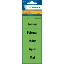 Inhaltsschilder Monate grün Herma 1741 (BTL=100 STÜCK) Produktbild