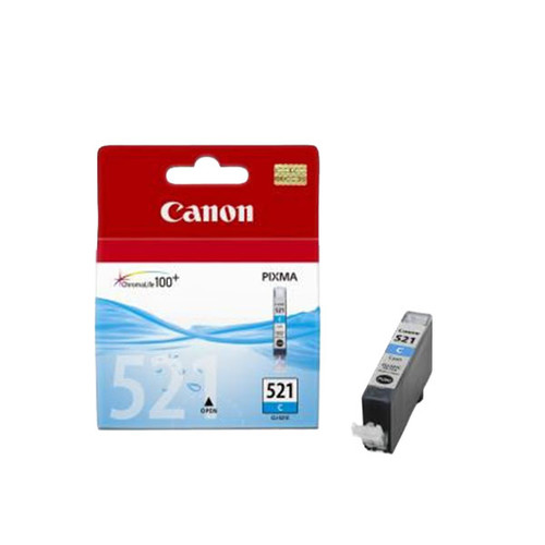 Tintenpatrone CLI-521C für Canon Pixma IP3600/4600 9ml cyan Canon 2934b001 Produktbild Front View L