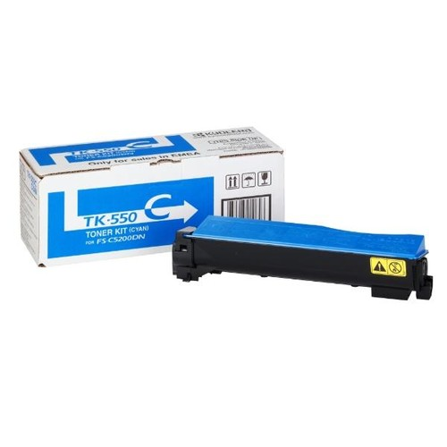 Toner TK-550C für FS-C5200DN 6000Seiten cyan Kyocera 1T02HMCEU0 Produktbild Front View L