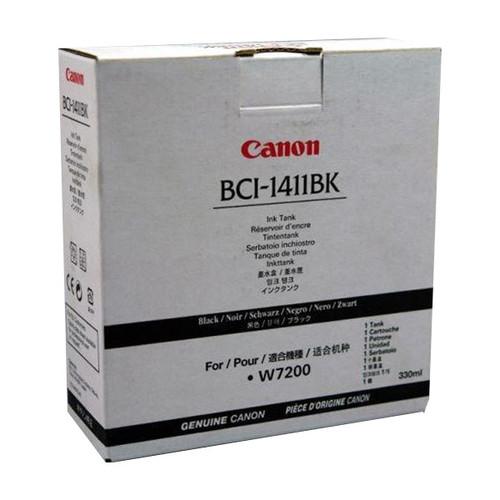 Tintenpatrone BCI-1411BK für Canon W7200/8200D 330ml schwarz Canon 7574a001 Produktbild Front View L