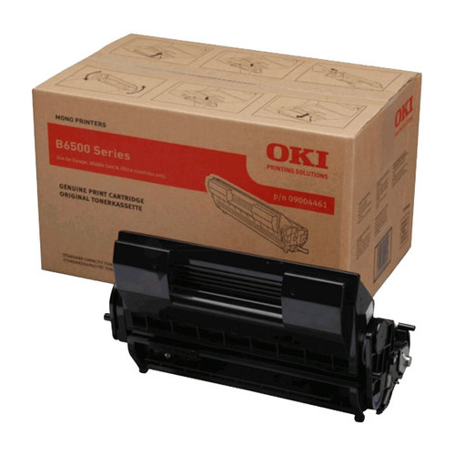 Toner für B6500 13000Seiten schwarz OKI 09004461 Produktbild Front View L