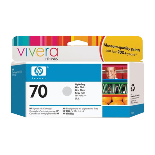Tintenpatrone 70 für HP DesignJet Z2100/Z3200 130 ml grau hell HP C9451A Produktbild Front View L