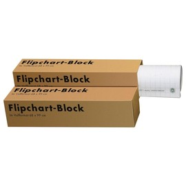 Flipchartblock 20Blatt 68x99cm recycling kariert/blanko Landré 100050589 (PACK=5 STÜCK) Produktbild